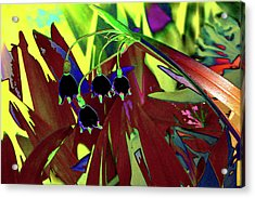 Abstract Flowers Of Light Series #10 Acrylic Print