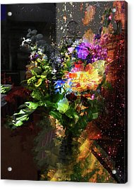 Abstract Flowers Of Light Series #17 Acrylic Print