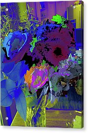 Abstract Flowers Of Light Series #18 Acrylic Print