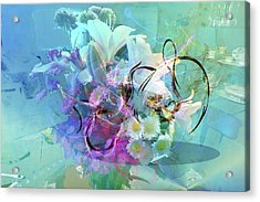 Abstract Flowers Of Light Series #9 Acrylic Print