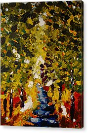 Acrylic Print featuring the painting Abstract Forest #1 by Zeke Nord
