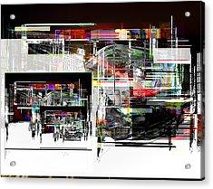 Abstract Fountain Acrylic Print