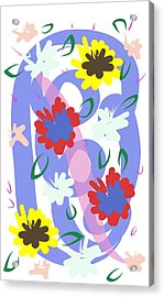 Acrylic Print featuring the digital art Abstract Garden #1 by Bee-Bee Deigner