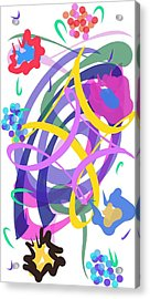Acrylic Print featuring the digital art Abstract Garden #2 by Bee-Bee Deigner