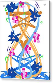 Acrylic Print featuring the digital art Abstract Garden #3 by Bee-Bee Deigner