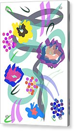 Acrylic Print featuring the digital art Abstract Garden Nr 4 by Bee-Bee Deigner