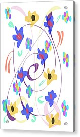Acrylic Print featuring the digital art Abstract Garden Nr 7 Naif Style by Bee-Bee Deigner