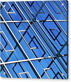 Abstract Geometric Reflection Acrylic Print by by Fabrice Geslin
