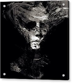 Abstract Ghost Black And White Acrylic Print by Marian Voicu
