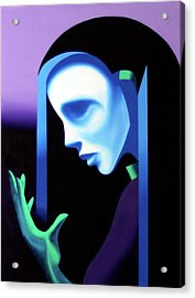 Abstract Ghost Mask Acrylic Print by Mark Webster