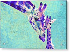 Abstract Giraffes Acrylic Print