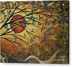Abstract Golden Landscape Art Original Painting Peaceful Awakening I Diptych Set By Megan Duncanson Acrylic Print