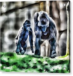 Abstract Gorilla Family Acrylic Print