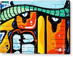 Acrylic Print featuring the painting Abstract Graffiti Face by Yurix Sardinelly