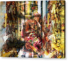 Abstract Graffitis Acrylic Print by Martine Affre Eisenlohr