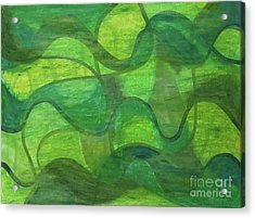 Abstract Green Wave Connection Acrylic Print