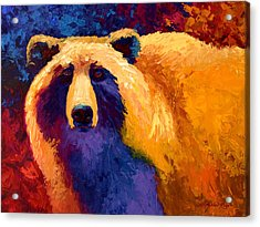 Abstract Grizz II Acrylic Print by Marion Rose