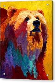 Abstract Grizz Acrylic Print by Marion Rose