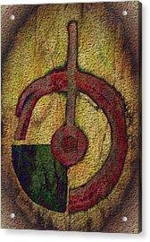 Abstract Hammer And Nail Acrylic Print by Delynn Addams