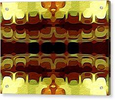 Abstract Horizontal Tiles - Harvest 1977 Acrylic Print by Jason Freedman