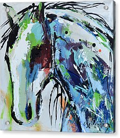 Acrylic Print featuring the painting Abstract Horse 18 by Cher Devereaux