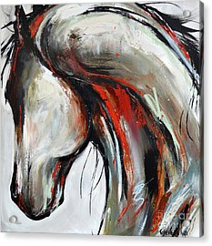 Acrylic Print featuring the painting Abstract Horse 21 by Cher Devereaux