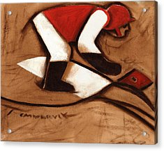 Abstract Horse Racing Jockey Art Print Acrylic Print by Tommervik