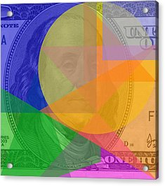 Abstract Hundred Dollar Bill Acrylic Print by Dan Sproul