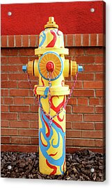 Acrylic Print featuring the photograph Abstract Hydrant by James Eddy