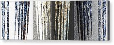 Acrylic Print featuring the digital art Abstract Icicles by Will Borden