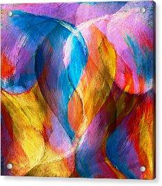 Abstract In Aqua Acrylic Print