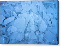 Abstract In Ice Acrylic Print