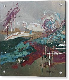 Abstract In Jewel Tones Acrylic Print by Beth Maddox