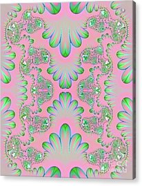 Acrylic Print featuring the digital art Abstract In Pastels by Linda Phelps