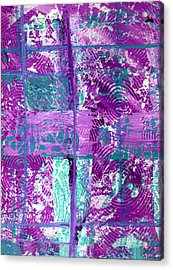 Abstract In Purple And Teal Acrylic Print