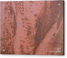 Abstract In Rust Acrylic Print by Karen Sydney