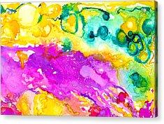 Transcendent Love Abstract Ink Art Colorful Wall Art Acrylic Print by Patricia Awapara