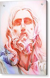 Acrylic Print featuring the painting Abstract Jesus 1 by J- J- Espinoza