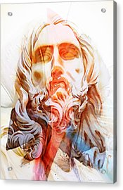 Acrylic Print featuring the painting Abstract Jesus 2 by J- J- Espinoza