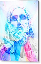 Acrylic Print featuring the painting Abstract Jesus 3 by J- J- Espinoza