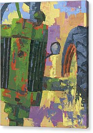 Acrylic Print featuring the painting Abstract Johnny by David King