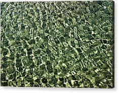 Acrylic Print featuring the photograph Abstract Lake Reflections by LeeAnn McLaneGoetz McLaneGoetzStudioLLCcom