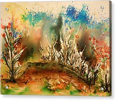 Abstract Landscape Acrylic Print by Betty-Anne McDonald
