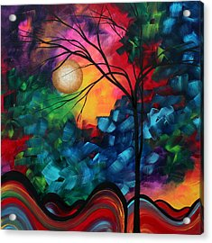Abstract Landscape Bold Colorful Painting Acrylic Print