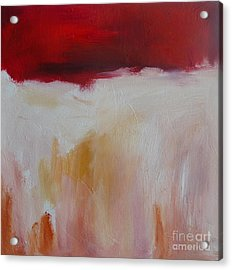Abstract Landscape In Red Acrylic Print by Xx X