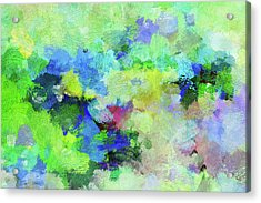 Acrylic Print featuring the painting Abstract Landscape Painting by Ayse Deniz