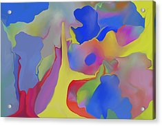 Abstract Landscape Acrylic Print by Peter Shor