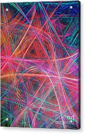Acrylic Print featuring the digital art Abstract Light Show by Andee Design