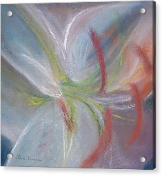 Abstract Lily Acrylic Print by Jackie Bush-Turner