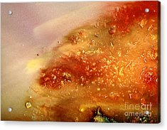 Abstract Liquid Art Fluid Red Painting Science Of Dust Acrylic Print
